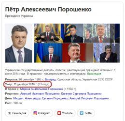 порошенко умер дата смерти порошенко