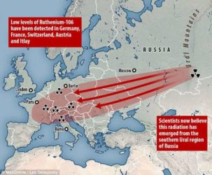 Карта, как радиоактивное облако над россией
